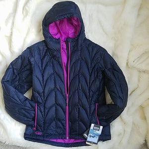 NWT Outdoor Research Aria down hoodie Large